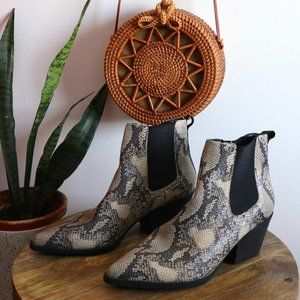 New Look boots in snake print